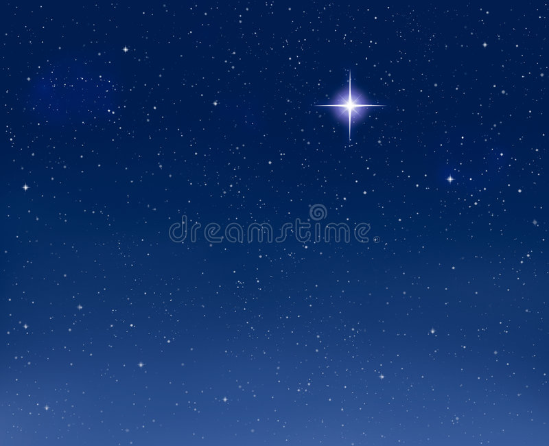 Download Glowing Evening Star stock photo. Image of infinity, christmas - 7209880