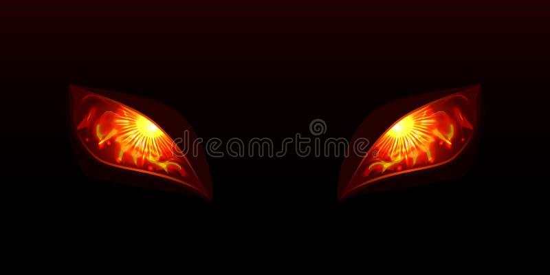 Glowing eyes vector illustration