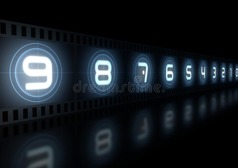 Glowing Film Strip Royalty Free Stock Images