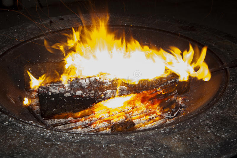 Glowing Fire stock image
