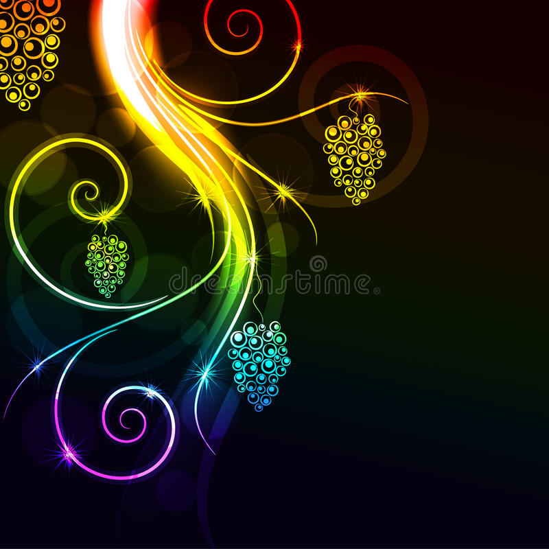 Glowing floral background royalty free illustration
