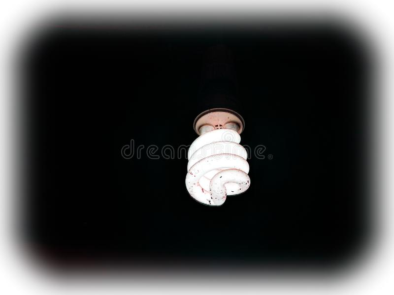 Glowing florescent lamp royalty free stock image