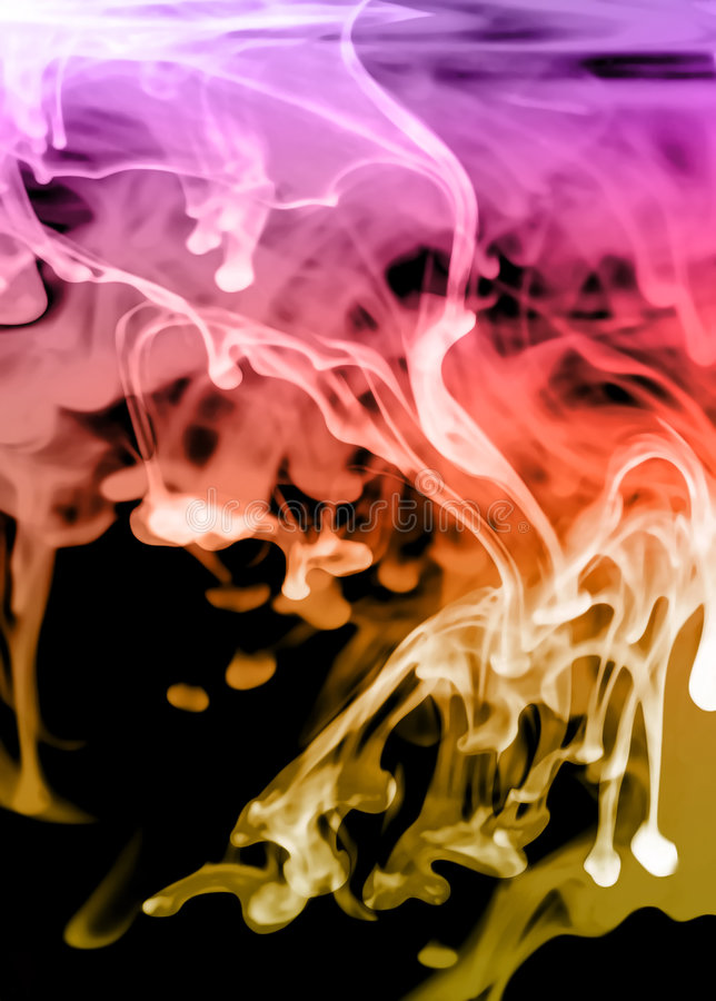 Glowing fluid abstract stock photos