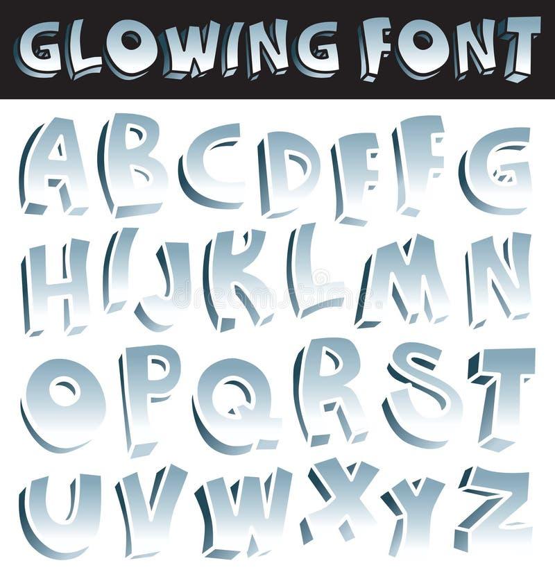 Glowing font