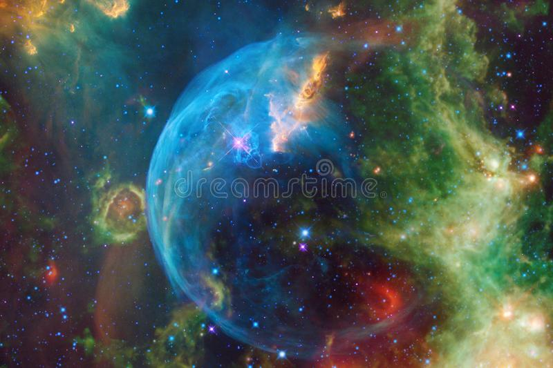 Glowing galaxy, awesome science fiction wallpaper. Elements of this image furnished by NASA royalty free stock photo