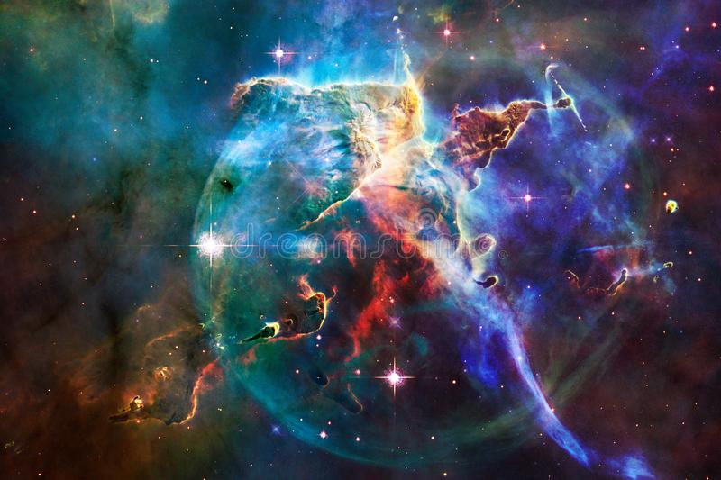 Glowing galaxy, awesome science fiction wallpaper. Elements of this image furnished by NASAnd royalty free stock photography