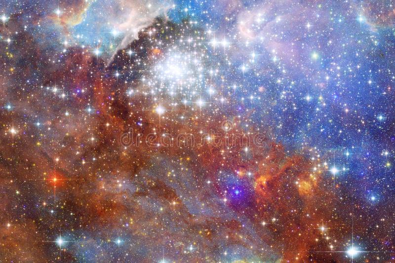 Glowing galaxy, awesome science fiction wallpaper. Elements of this image furnished by NASA vector illustration