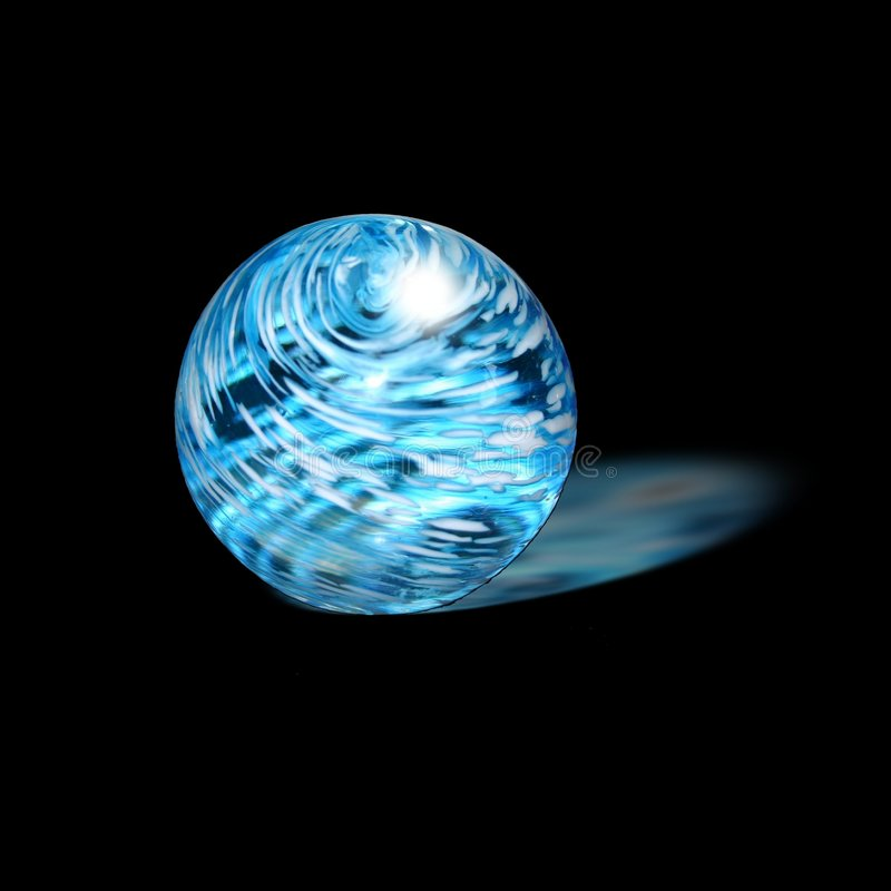 Download Glowing Glass Paperweight stock illustration. Image of alone - 2847527