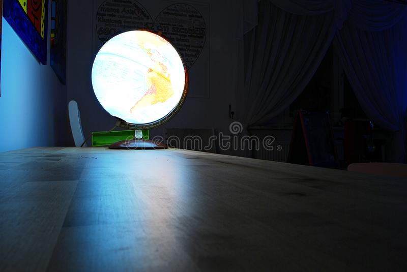 Glowing globe royalty free stock photos