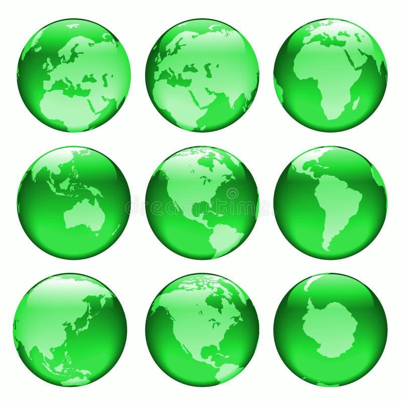 Glowing globe views #2 stock illustration