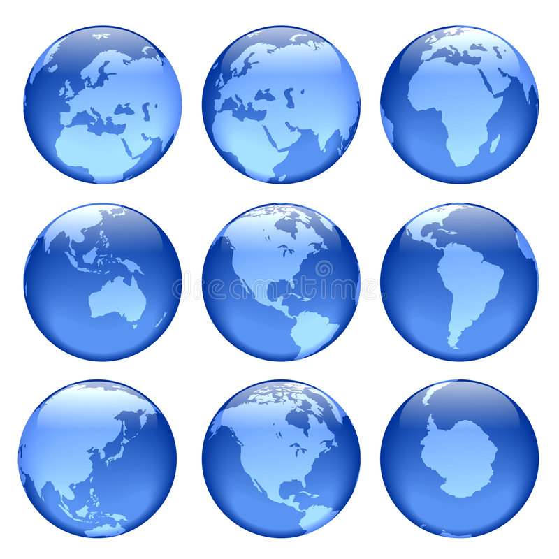 Glowing globe views royalty free stock photography