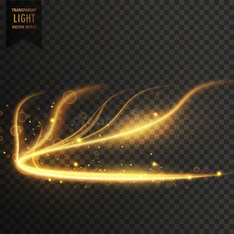 glowing golden transparent light effect background vector illustration