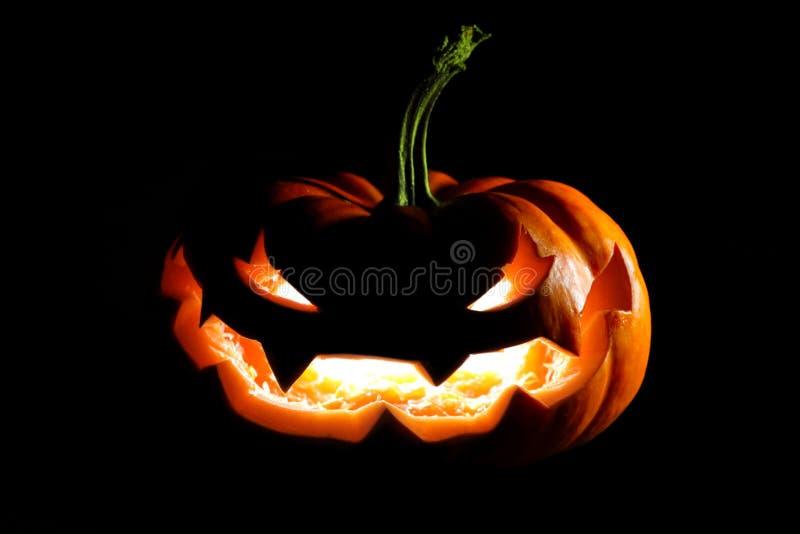 Glowing Halloween jack o' lantern royalty free stock photos