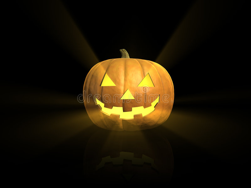 Download Glowing Halloween lantern stock illustration. Image of carved - 3258636