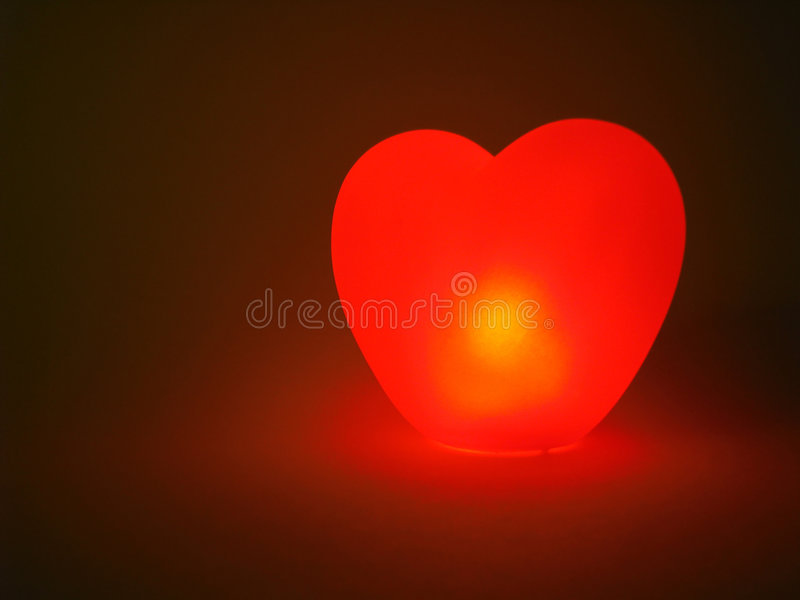 Glowing heart royalty free stock photography
