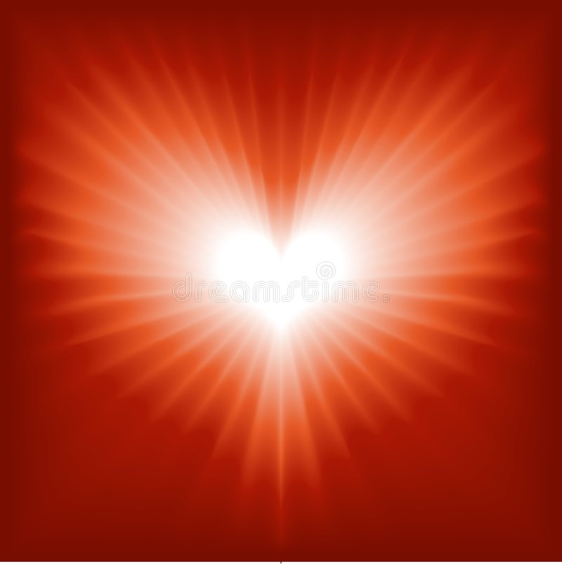Glowing heart for Valentine, romance, etc vector illustration