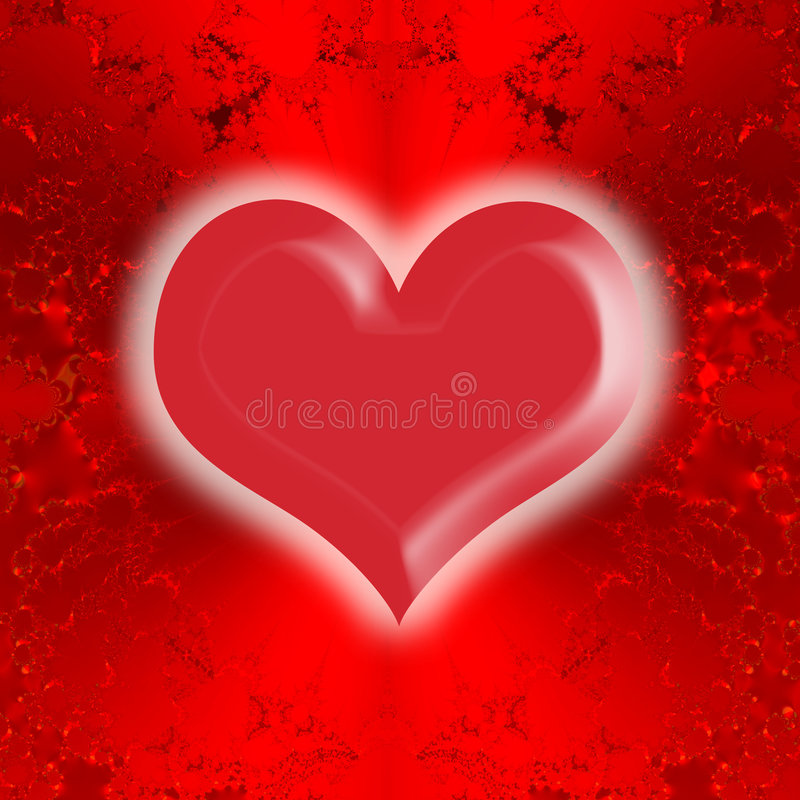 Glowing Heart Valentines Card royalty free stock images