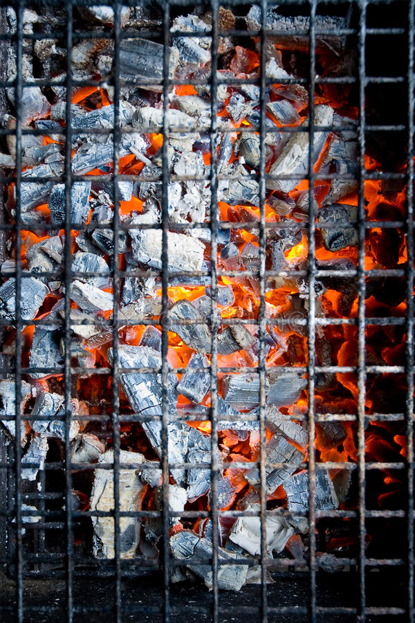 Download Glowing hot charcoal stock image. Image of behind, charcoal - 13622761