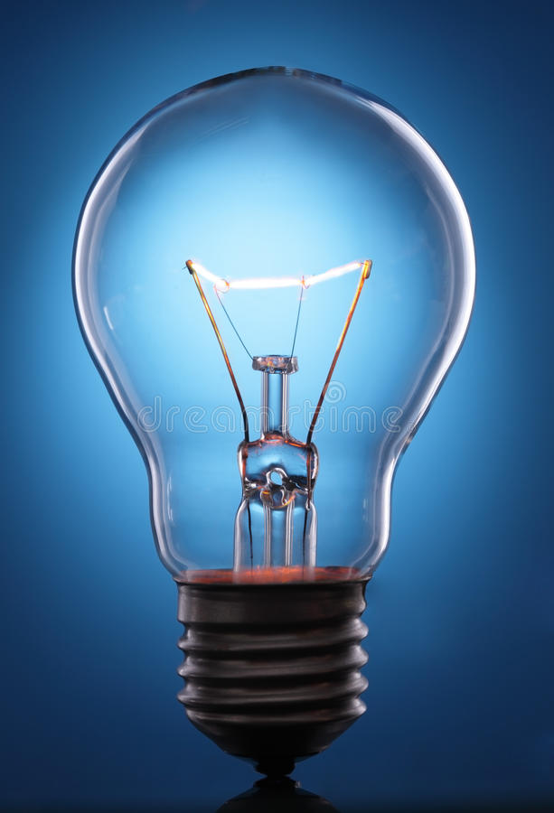 Download Glowing lamp stock image. Image of filament, background - 23815929