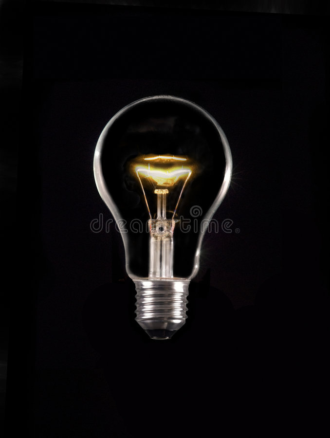 Glowing Lamp On Black Royalty Free Stock Images