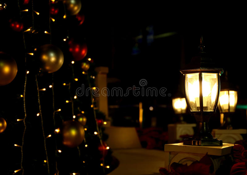 Download Christmas Tree Lights Background Outdoor Light Stock Photo