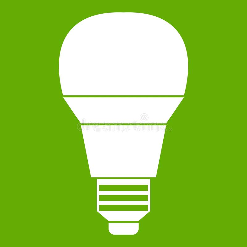 Glowing LED Bulb Icon Green Stock Vector - Illustration of icon ...