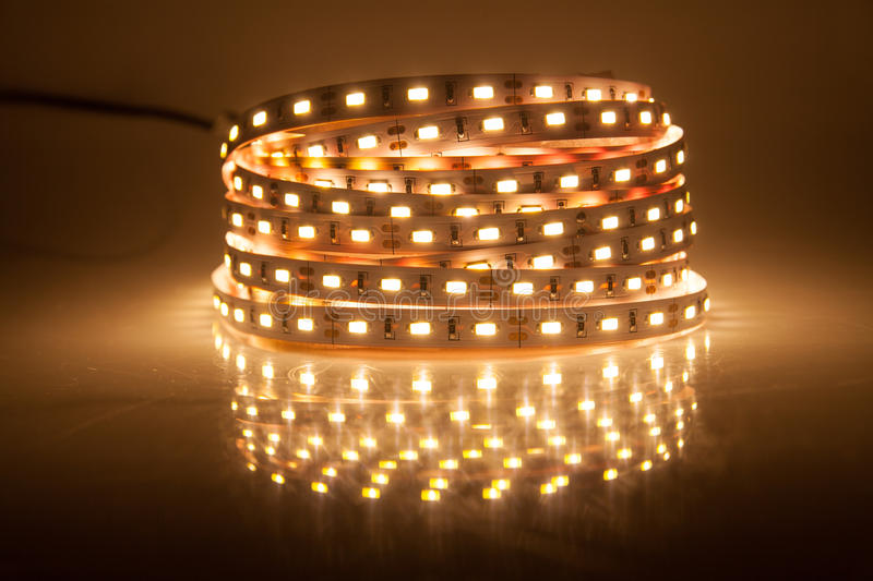 Download Glowing LED Garland, Strip Stock Photo - Image: 39100138