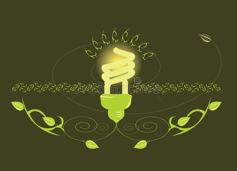 Glowing light bulb design royalty free illustration