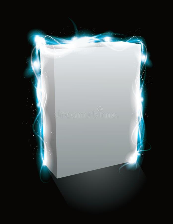 Glowing light effect box product mockup royalty free illustration