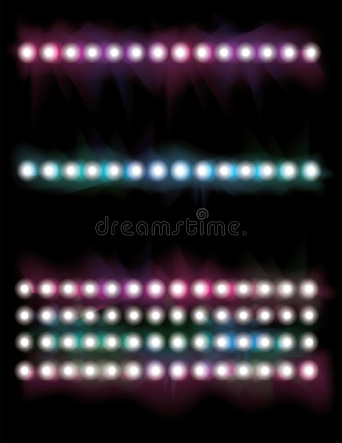 Glowing light line set vector illustration