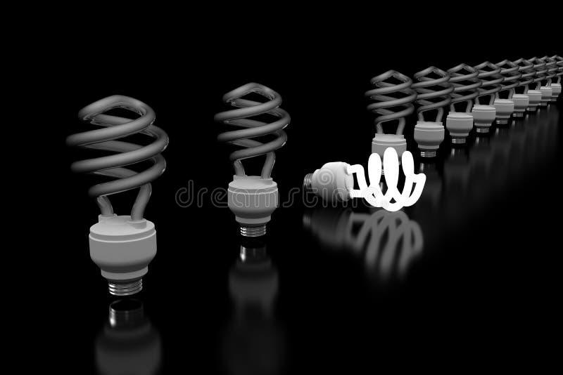 Download Glowing Lightbulb stock illustration. Illustration of glowing - 19917661