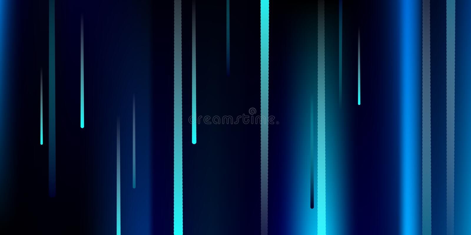 Glowing Lines. Digital Falling Glare. royalty free illustration