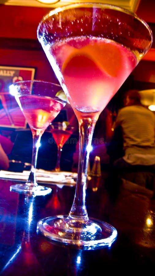 Glowing Martinis royalty free stock photo