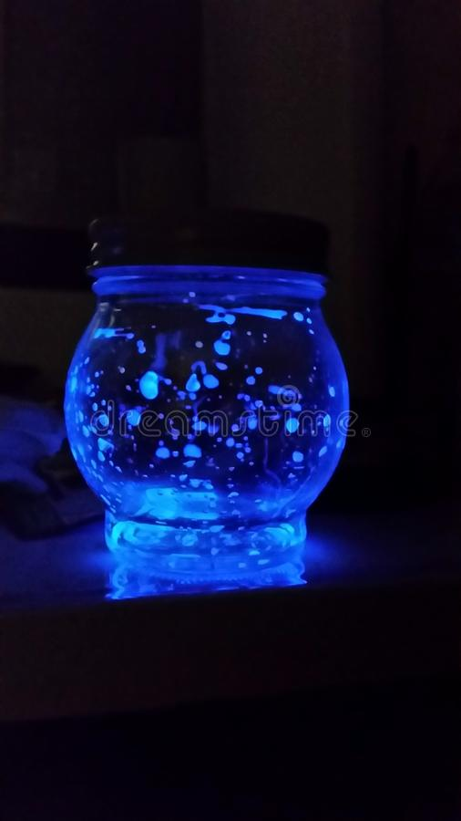 Glowing mason jar stock images