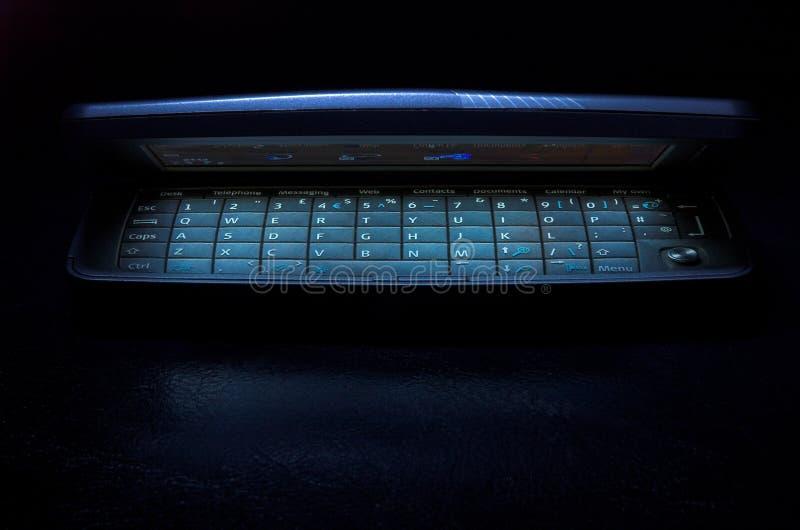 Glowing mobile phone stock image