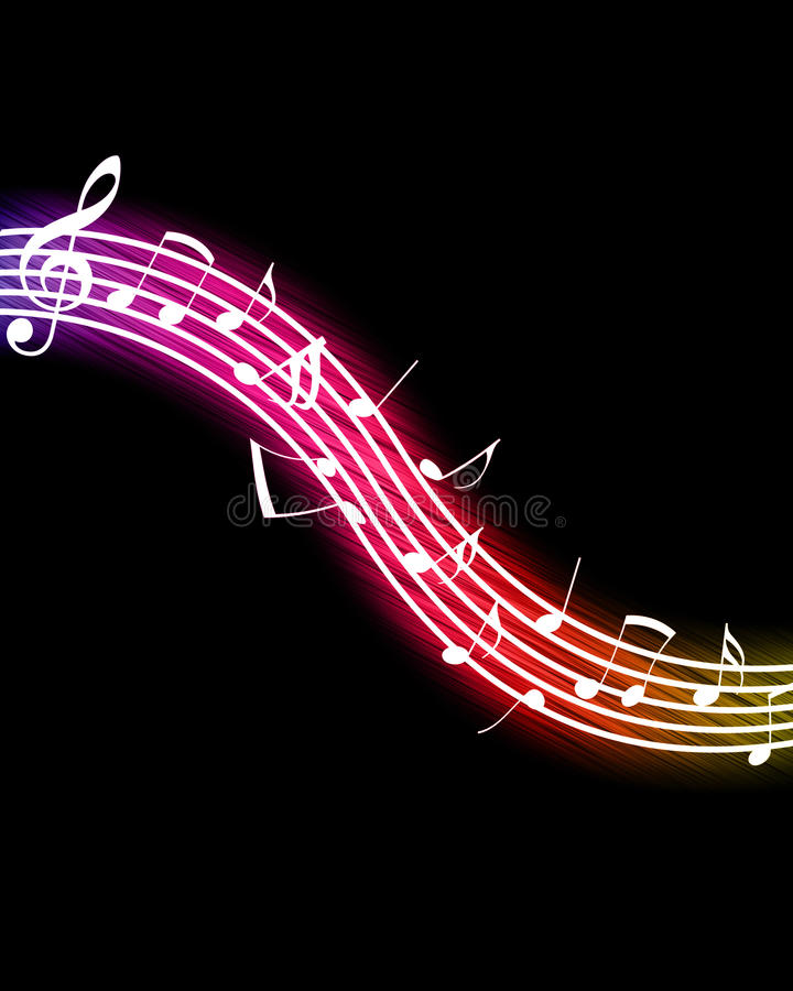 Glowing Music Notes stock illustration