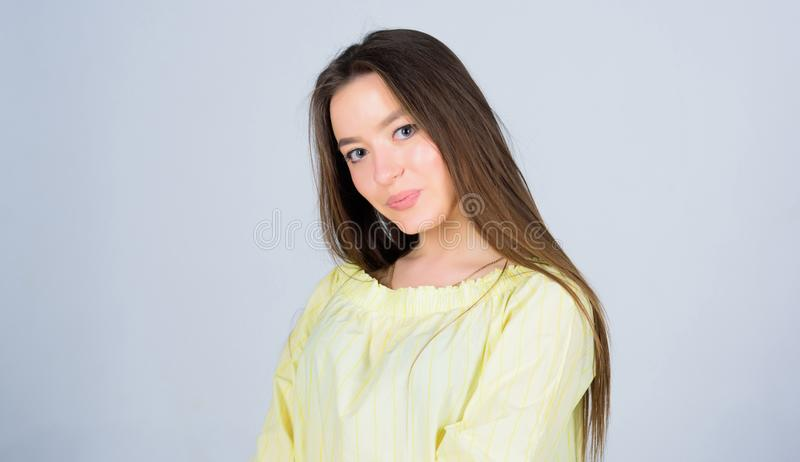 Glowing with natural beauty. Pretty girl skincare and makeup. Beautifying face hair and skin. Cosmetology and beauty. Daily simple makeup. Portrait of royalty free stock photos