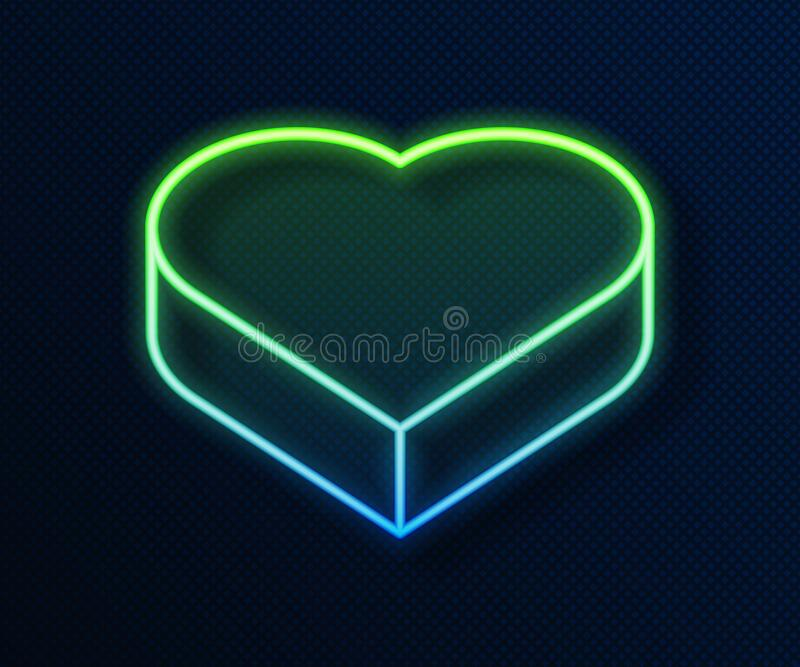 Neon pixel heart jewelry box