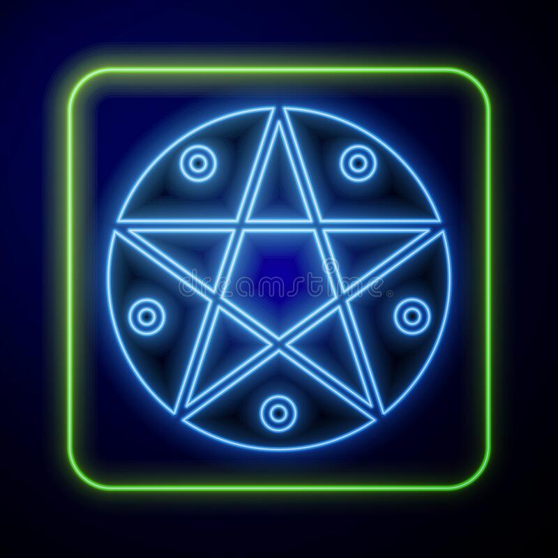 « Guilty of Madness » ft. Ray Palmer Glowing-neon-pentagram-circle-icon-isolated-blue-background-magic-occult-star-symbol-glowing-neon-pentagram-circle-182483840