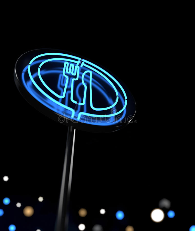 Download Glowing Neon Sign stock illustration. Image of design - 24414369
