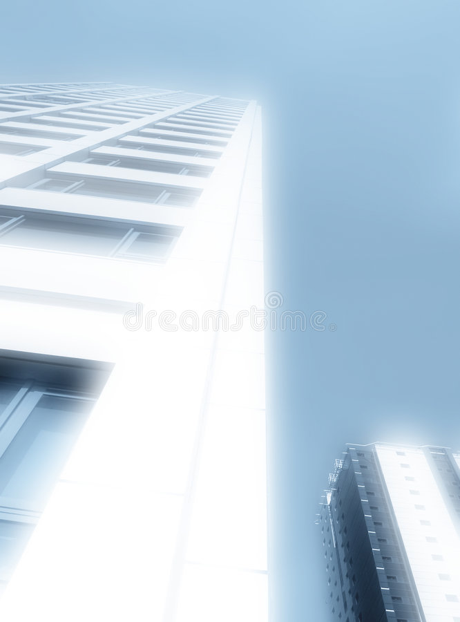 Glowing office building vector illustration