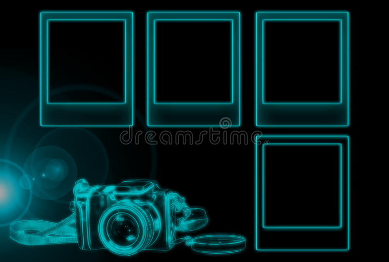 Download Glowing Photo Borders stock illustration. Image of color - 11523666