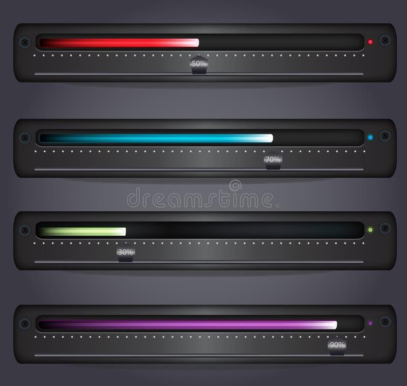 Download Glowing Progress/download/upload Bar Stock Vector - Image: 25626091