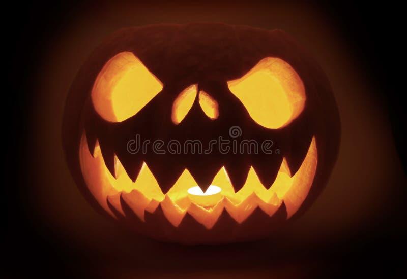 Glowing pumpkin royalty free stock photo