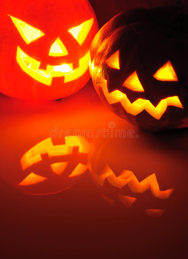 Download Glowing Pumpkin With A Candle Inside Stock Image - Image: 21381625