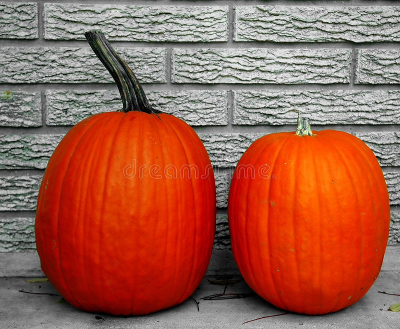 Glowing pumpkins royalty free stock images
