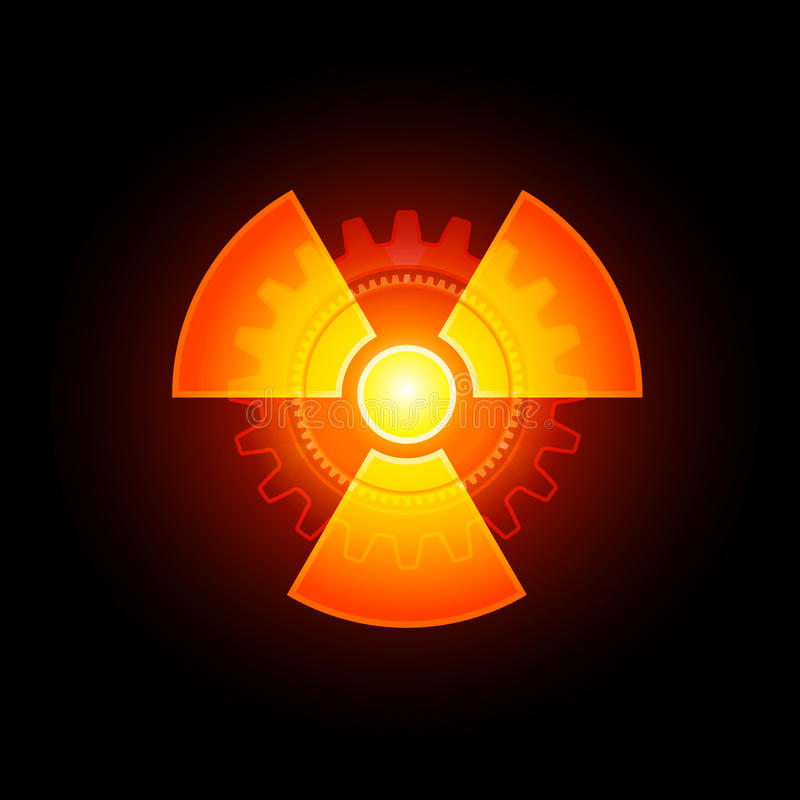 Glowing Radioactive sign royalty free illustration