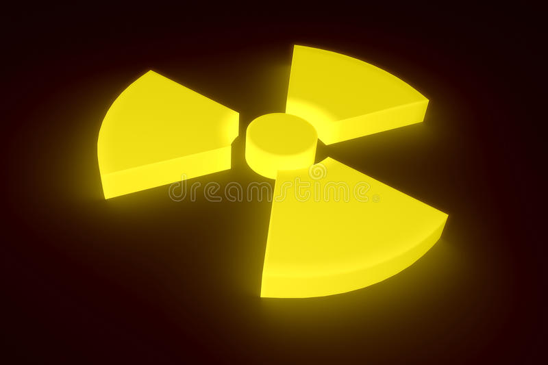 Glowing radioactive sign. stock photography