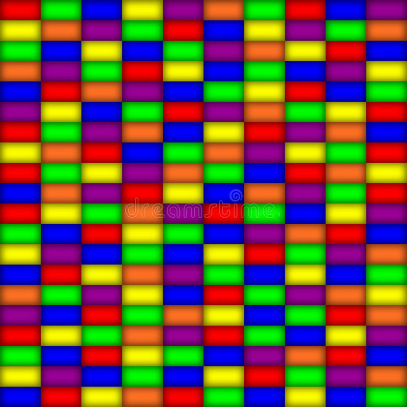Glowing Rectangles In Primary Colors Royalty Free Stock Photo