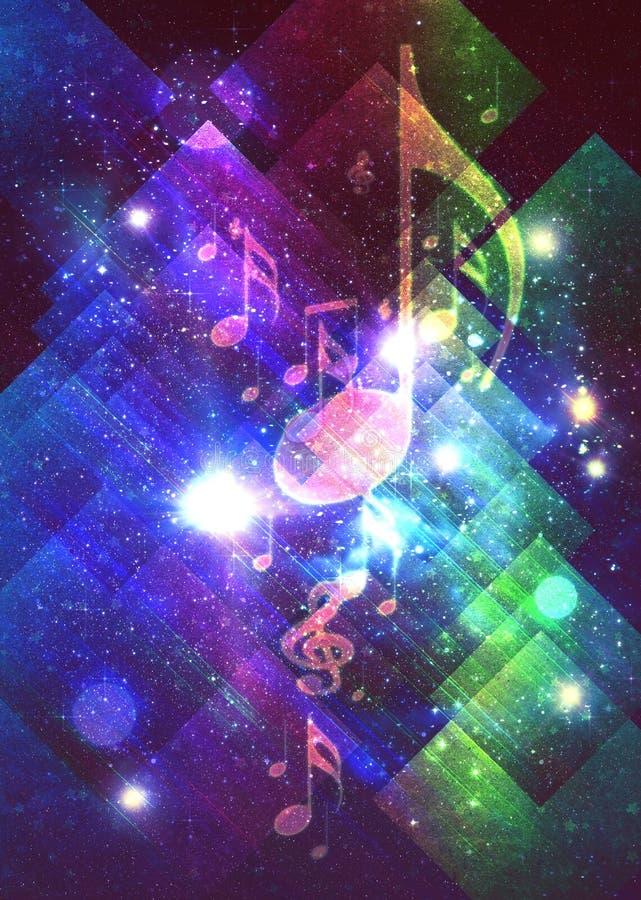 Glowing retro music poster vector illustration